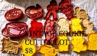 red, yellow, and orange plastic cookie cutters Windsor
