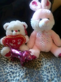 two white and pink bear plush toys Palmdale, 93551