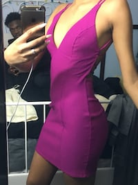 Dress purple cocktail summer low back bodycon tight zip up  Toronto, M1B 2S7