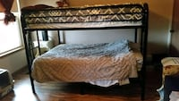 Rod iron bunk beds. 2 full size beds and its 2 years old. Paid 800$. Little Rock