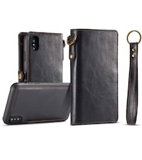 iPhone Xs Max Case,iPhone Xs Max Wallet Case,MISSCASE Premium Leather Wallet Case with Magnetic Detachable SlimCase [Fit Car Mount] for iPhone Xs Max,6 Card Slots,Pocket,Lanyard Black Miami, 33174