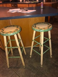 two gray-and-green bar stools Gaithersburg, 20882