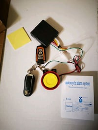 Motorcycle alarm system remote control starter  Mississauga, L5N 5W8