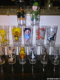 1973 Pepsi Looney tunes collectable glasses
