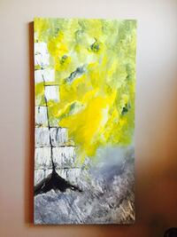 """Stormy day sailing : 24"""" x 48"""" stretched canvas x 1.5"""" deep profile, price is negotiable , I had to give price here Calgary, T3A 4R8"""