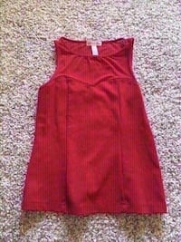 New red sheer long top size small. Colton, 92324