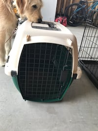White and green pet carrier Niles, 60714