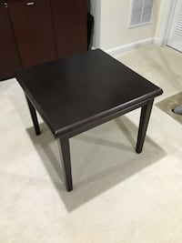 square black wooden side table Bristow, 20136