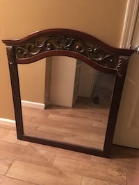 Brown wooden framed wall mirror Independence, 70744