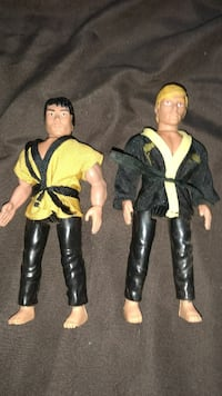 two Karate Kid action figures