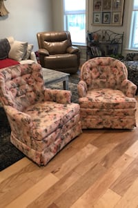 Swivel rocker accent chairs