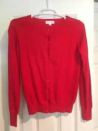 NEW Red Cardigan, Size Small