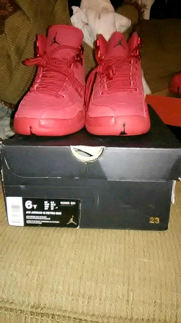 new product ae887 01054 All red jordan retro 12s
