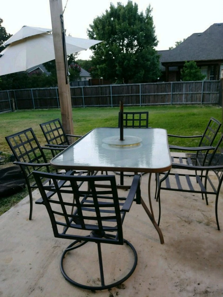 used rectangular black metal framed glass top patio tab for sale in rh us letgo com