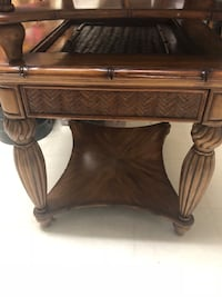 Brown wooden 2-drawer end table 2 tables Kennesaw, 30144