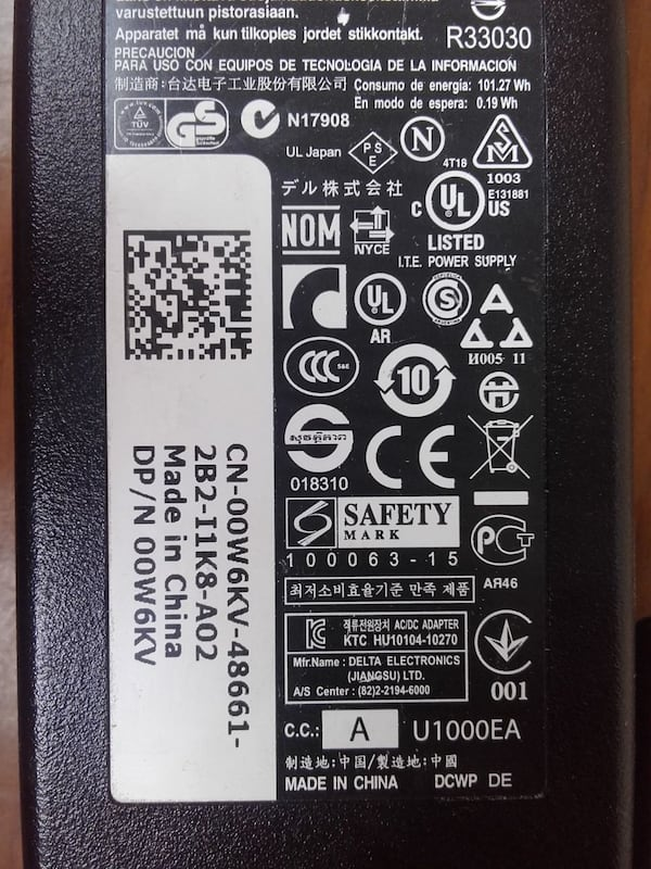 Original Dell Adapter Da 90Pm111, Adp-90Ld D. 21e7b388-1796-4cf9-98cf-45bf87cd588f