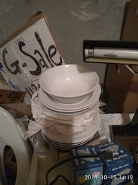 white and gray ceramic dinnerware set Edmonton