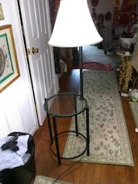 Metal and glass floor lamp side table  Alexandria, 22315