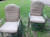 two gray steel armchairs Port Arthur