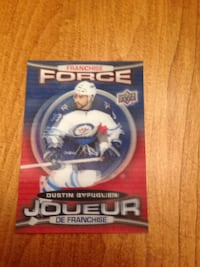 Force Dustin Byfuglien trading card