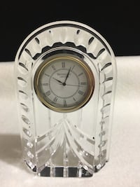 Waterford overture crystal  desk clock
