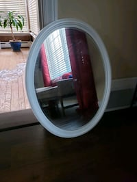 White oval mirror Providence