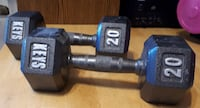 Pair of 20 pound solid steel barbells Toronto