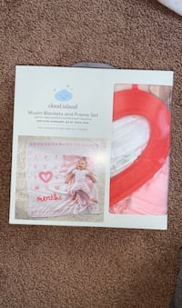 Muslin blanket and frame set