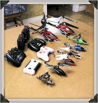8 RC helicopters with remotes Wallenstein, N0B 2S0