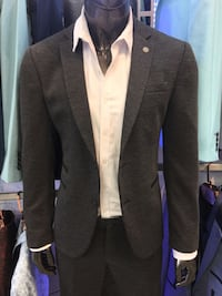 Grey men's dressy blazer new with tags all sizes available slim fit made in turkey only $149 come in today  Los Angeles, 90046