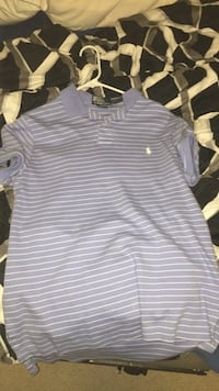 Blue and white striped polo by ralph lauren polo shirt