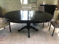 oval black wooden pedestal table South Kingstown, 02879