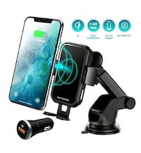 Wireless Car Charger, Auto-Clamp with Fast Charging NEW ½ PRICE