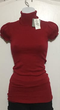Red Turtleneck Top: Size Small Toronto, M6G