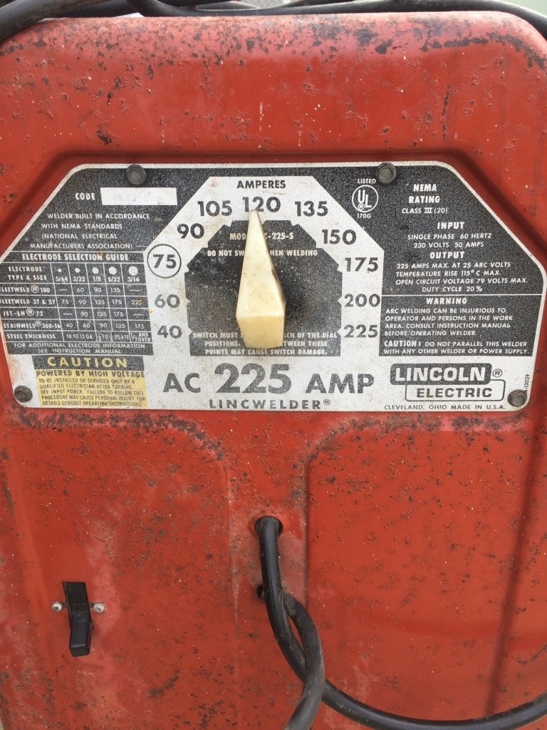 Photo Lincoln electric welder 250 amp