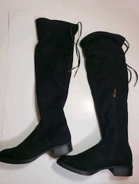 Sam Edelman Circus Over the Knee Boots Black Suede 6.5, Very Good Vancouver, V6C 3R4