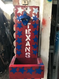red and blue Texans bottle opener Houston, 77091