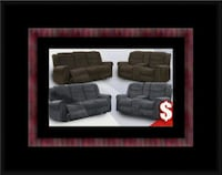 Grey or chocolate recliner set Riverdale Park
