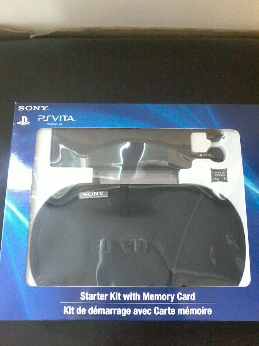 black Sony PS Vita Starter Kit with Memory Card pack, used for sale  Brampton