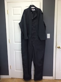 Dark gray 2xL long-sleeved coveralls jumpsuit