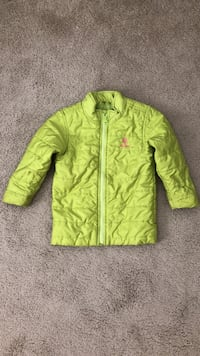 Old navy size 4t green full-zipped windbreaker jacket