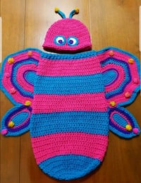 NEW Crochet Butterfly Hat and Cocoon Set Airdrie, T4B 0E4