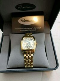 gold-colored analog watch with link bracelet Queens, 11414