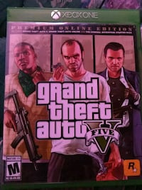 Xbox1 grand theft auto five premium online edition  comes with map