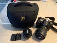 Nikon D [TL_HIDDEN] mm lens + 35mm lens + camera bag Burbank, 91505