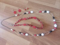 red and white beaded necklace Maysville, 28555