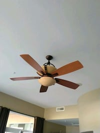 brown 5-blade ceiling fan with light fixture Scottsdale, 85259