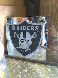 Eched and painted raiders mirror Albuquerque, 87121