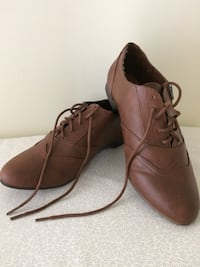 womens  BROWN   OXFORD  SHOE