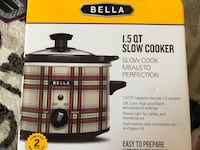 Black and gray bella slow cooker box Ashburn, 20147